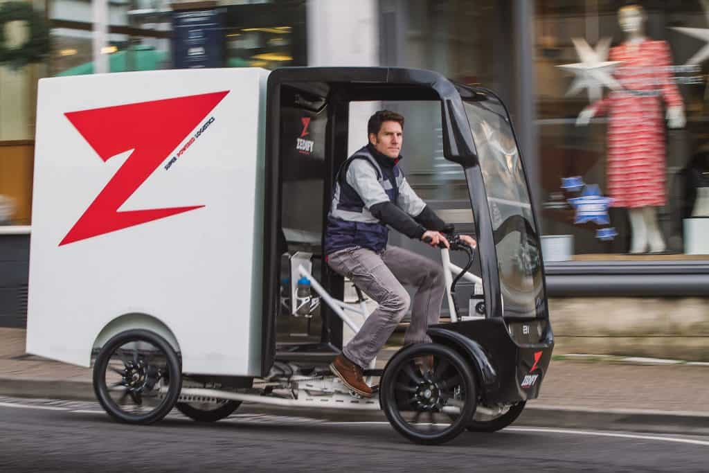 An electric delivery vehicle